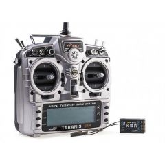 FrSky Taranis 2.4GHz X9DP + X8R- Mode 2 EU Version - EVA Bag - EU Charger