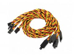 60cm Twisted Servo Lead Extension (JR) with Hook 22AWG