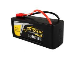 Tattu Plus 16000mAh 22.2V 15C 6S1P Lipo GensAce