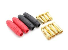 7mm AS150 Anti Spark Self Insulating Gold Bullet Connector